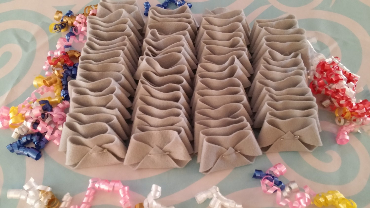 30 Dirty Diaper Game Felt Diapers Baby Shower Game Gray Etsy