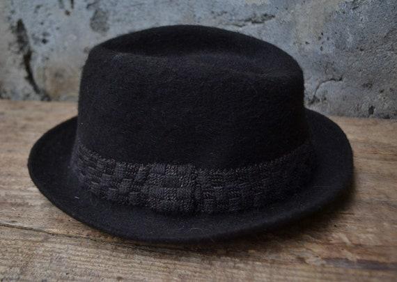 Vintage wool hat, felted fedora hat, pure wool fe… - image 6