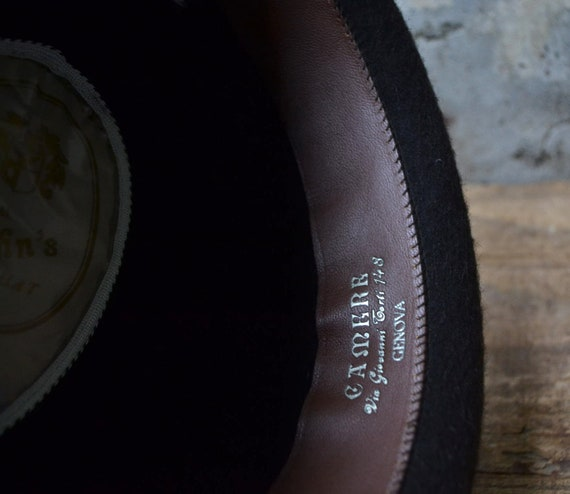 Vintage wool hat, felted fedora hat, pure wool fe… - image 10