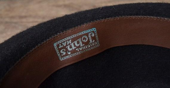 Vintage wool hat, felted fedora hat, pure wool fe… - image 9