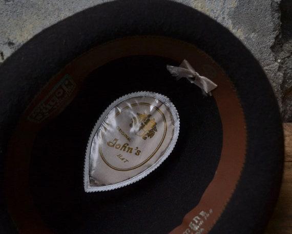 Vintage wool hat, felted fedora hat, pure wool fe… - image 7