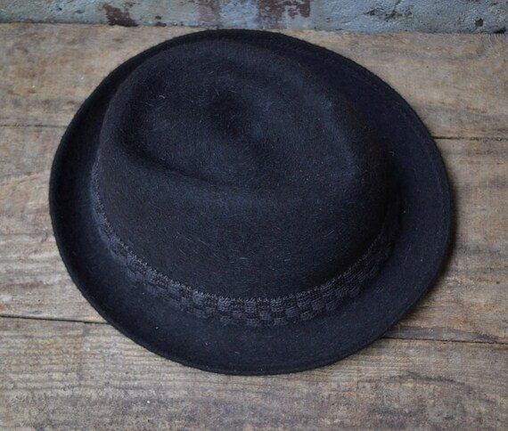 Vintage wool hat, felted fedora hat, pure wool fe… - image 4