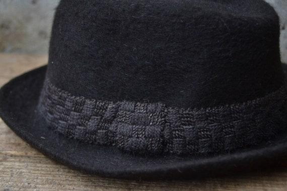 Vintage wool hat, felted fedora hat, pure wool fe… - image 3