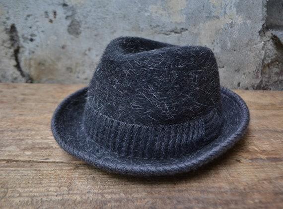 Vintage wool hat, vintage fedora hat, pure wool fe