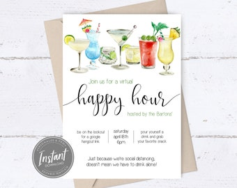 Cocktail Hour Invite Etsy