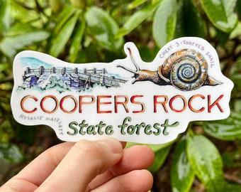 Coopers Rock Sticker - Waterproof