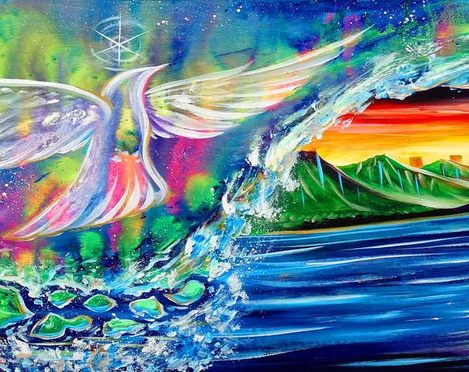 Dove Wave ~ Prints ~ Painted live in Oahu w/ Mike Love and Full Circle at Hawaiian Brians! 2017