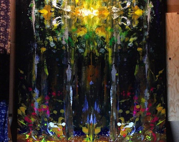 Abstract / texture ~ original ~ blue flame sunlight tree circle
