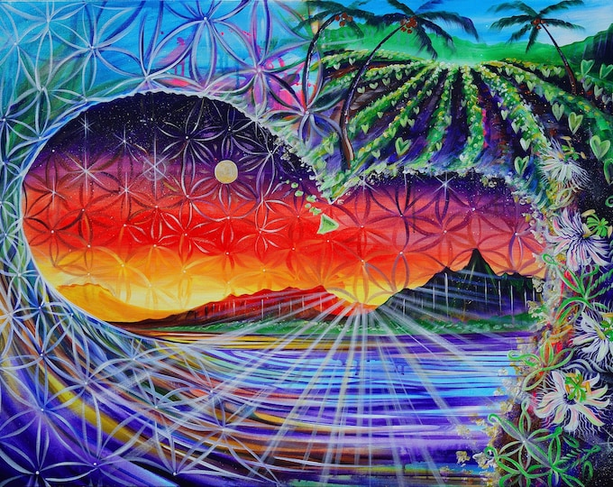 Farm Wave Lilikoi ~ Prints ~ Painted Live in Oahu w/ Mike Love and Full Circle at Lola's Bar & Grill! 2017