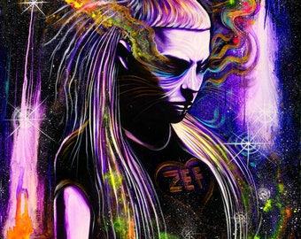 Yo-Landi Visser -Neon Darkling - Giclee Canvas Print . 2017