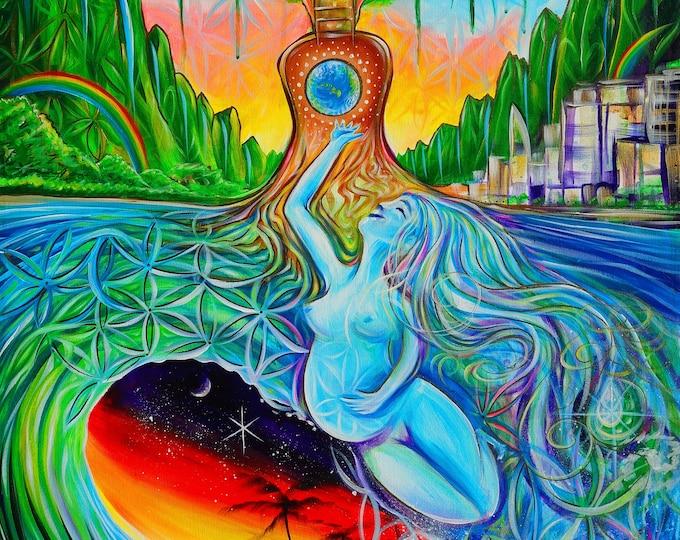 Mother Earth ~ Prints ~ live painting w/ Mike Love! Clinton Fearon! Paul Izak! ~ Oahu 2017