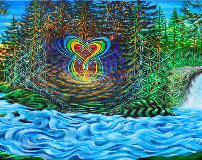 Blue River - Prints ~ painted live w/ Mike Love in Spokane Wa ! 2017