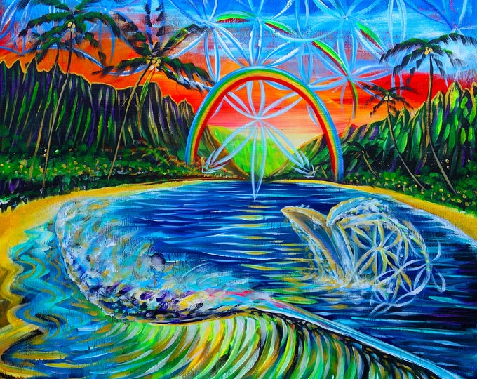 Waimanalo Humpback - Prints ~ Painted Live w/ Mike Love solo in Oahu <3 2017
