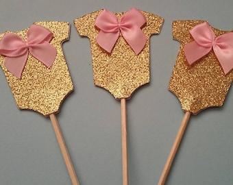 Baby Shower Glitter Cupcake Topper 991f2ca29de4