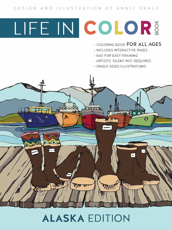 Adult Coloring Book Color Book Alaska Art Detailed   Etsy