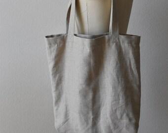 Minimal Simple Linen Tote Bag