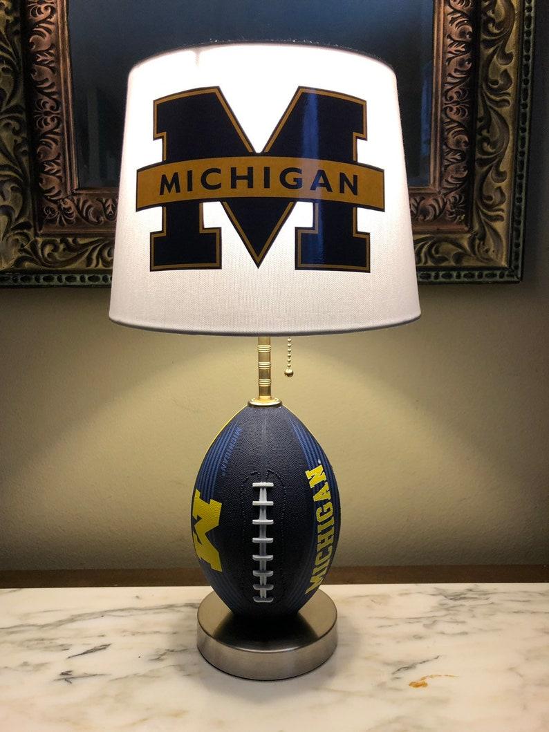 Michigan wolverines football lamp