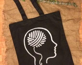 Yarn On The Brain Tote Bag