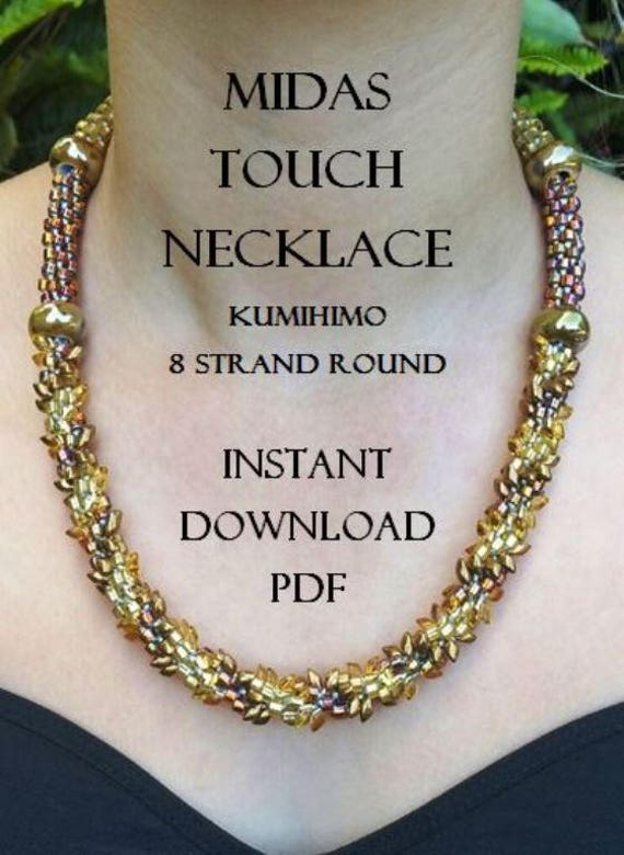 Kumihimo Necklace Pattern Midas Touch Necklace Instant Etsy