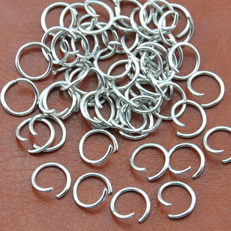 7mm 10mm 6mm 100 GOLD Plated 1mm Thick Metal Strong JUMP Rings -5mm 9mm 8mm