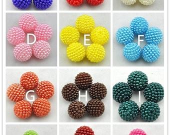 20mm Berry Beads Bright Pearly  (10 pcs), bumpy acrylic bead, chunky beads, gum ball Beads, bubble gum beads,DIY Beads ---G1691