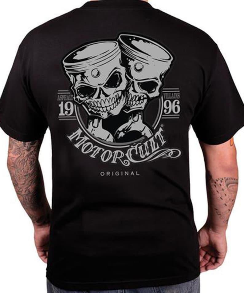 MotorCult  One and Only  Mens Black T-Shirt Asphalt Villains image 0