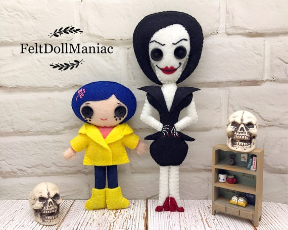 Pdf Pattern And Tutorial Coraline And Other Mother Felt Doll Etsy