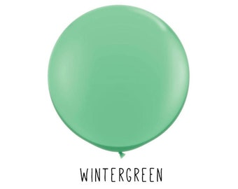 Your Choice of Quantity with Free Shipping! Wintergreen Mint Dark Green and White Assorted Polka Dot 11 Latex Helium Balloons