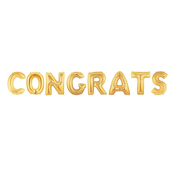 Congrats letter balloons congratulations balloon banner gold etsy image 0 thecheapjerseys Images