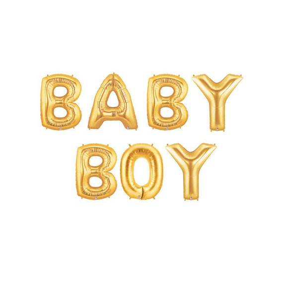 Baby Shower Letter Balloons.Baby Boy Letter Balloons Gold Gender Reveal Letter Balloons Gold Baby Boy Shower Letter Balloons Gold Letter Balloons Boy Gender Reveal