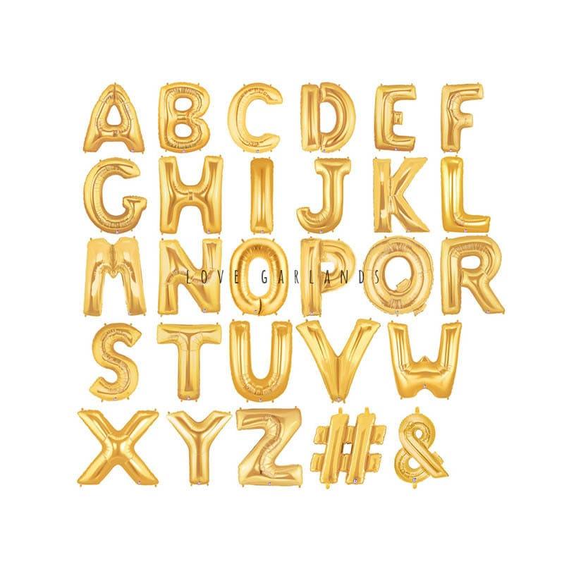 14 Metallic Gold Letter Balloons Gold Mylar Letter | Etsy