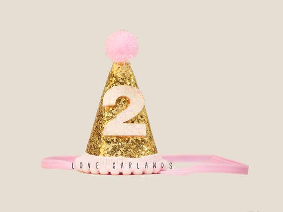 Second Birthday Glitter Felt Hat