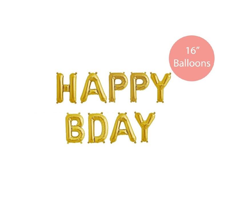 Metallic Gold Balloons Happy Birthday Balloons Happy Bday Gold Balloons Gold Balloons Happy Bday Letter Balloons Birthday Balloons