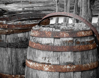 Rustic Home Decor, Rustic Photography, Barrel Photography, Rustic Wall Decor