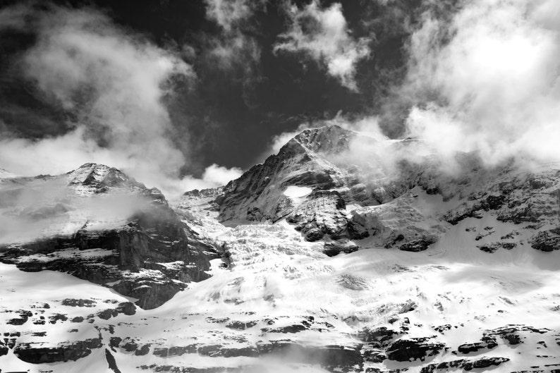 Mountain Decor Mountain Photography Swiss Alps Photography Bernese Alps Swiss Alps Art Mountain Print Switzerland Photography