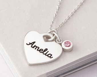 80217aff443 New Mom Jewelry • New Mom Necklace • Mother Child Birthstone Necklace •  Mother Baby Necklace • Mom-to-be Gift • Baby Name Necklace For Mom