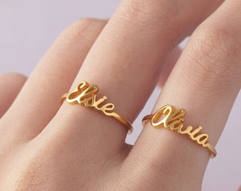 eb22426ce1 Personalized Stackable Ring • Custom Name Rings • Children Name Rings For  Mom • Mom Jewelry With Kid Name • Kid Name Ring Set • Mommy Ring
