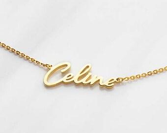 Cursive Name Necklace - Script Name Necklace - Gold Necklace With Name - Personalized Name Necklace - Custom Name Necklace CNN01