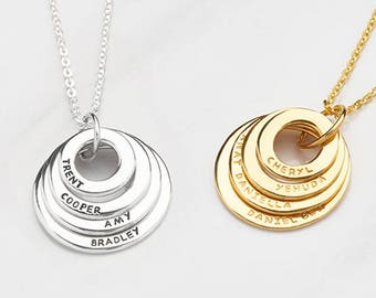 Grandma gift • Grandma necklace • Personalized grandmother jewelry • Mother necklace • Grandmother necklace • Mother's Day gift CMN10-13