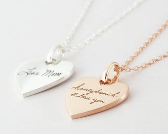 Handwriting Necklace • Memorial Necklace • Handwritten Jewelry in Sterling silver • Memorial handwriting jewelry - CHN16