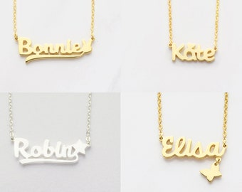 529acce8590 Children Necklace • Child Necklace • Baby Name Necklace • Kid Name Necklace  • Young Girl Jewelry • Child Jewelry • Niece Necklace