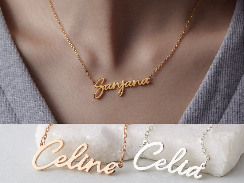 51b8a4d700350 Cursive Name Necklace Script Name Necklace Gold-Plated