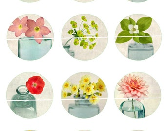 NN-plants and flowers Digital Images/designs 12 25/20/18/16/15/14/12/10/8 mm cabochon round