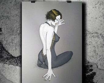 Lulù gold - Screen print poster