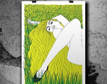The Summer Day - Handpulled Silkscreen Poster
