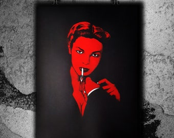 Lauren B - Red variant - Screen print poster