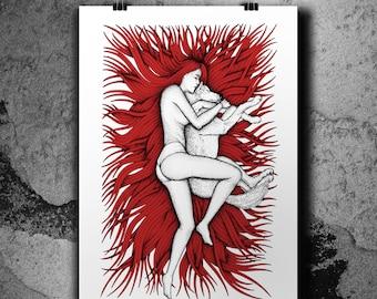 Artemide (Red) - Screen print poster