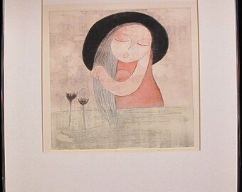 """Original Eng Tay """"Fragrance of Green Water"""" Lithograph 69/200 Signed Titltled"""