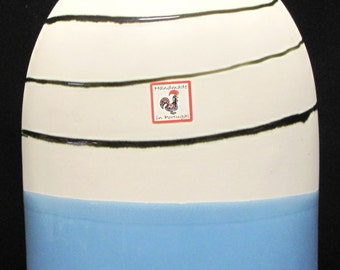 Large and Tall Soldercor Handmade Ceramic Vase from Portugal