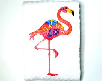 country kitchen flamingo kitchen accessories glass chopping board worktop saver Flamingo chopping board flamingo lover gift